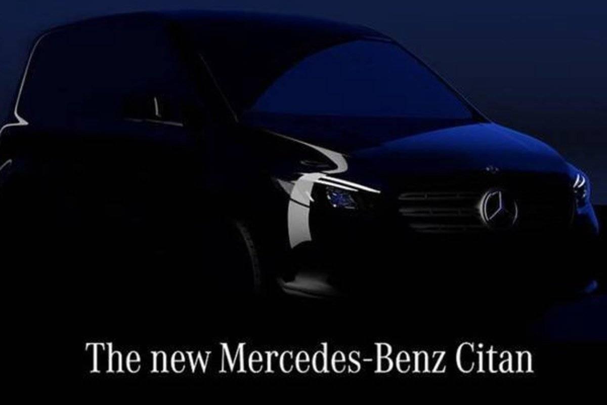 奔驰发布Citan预告图预计8月25日首发