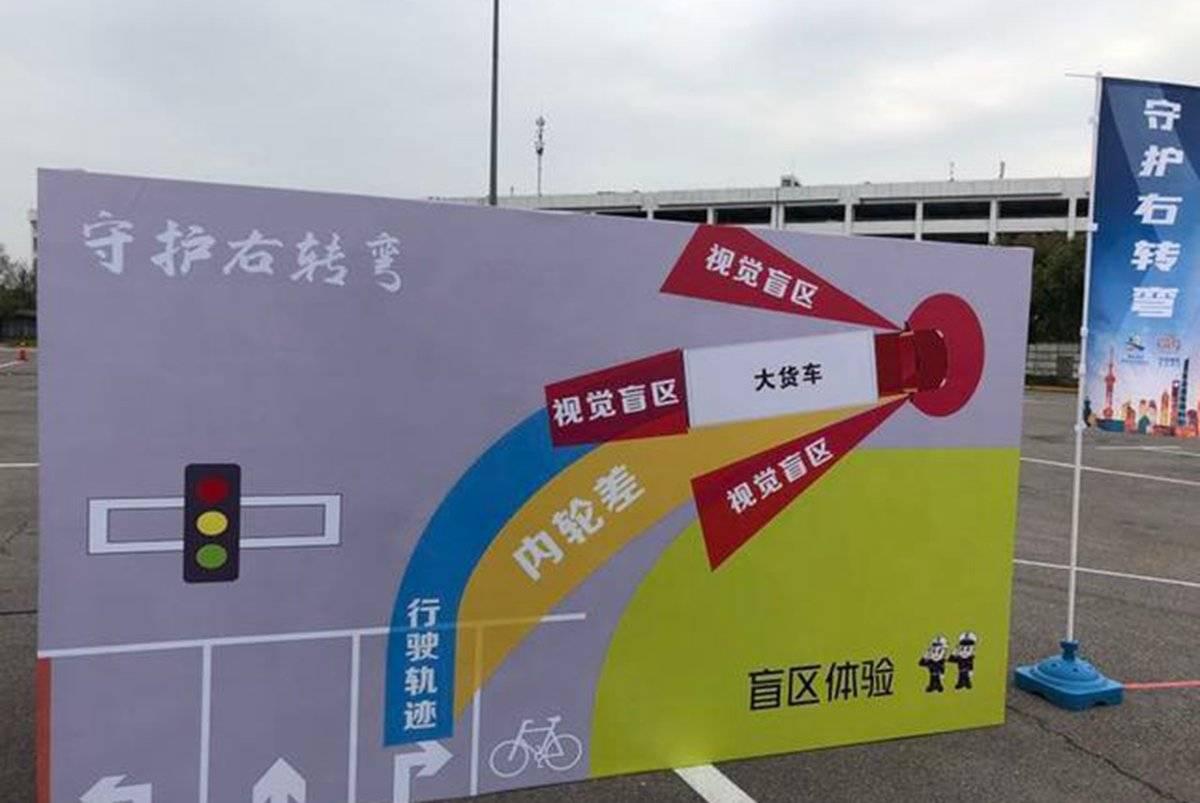 """安全有保障江西首例大货车右转弯""""扫盲神器'上线"""