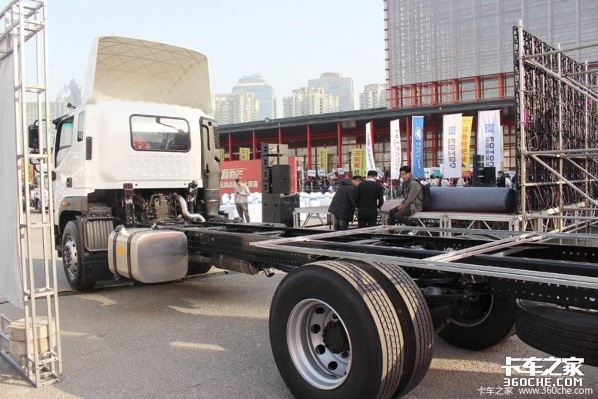 冷链运输如何选车?260马力奥铃大黄蜂配玻璃钢箱体