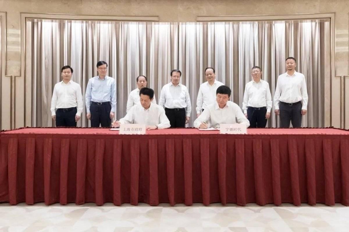 上海市政府与宁德时代签约加快新能源汽车发展