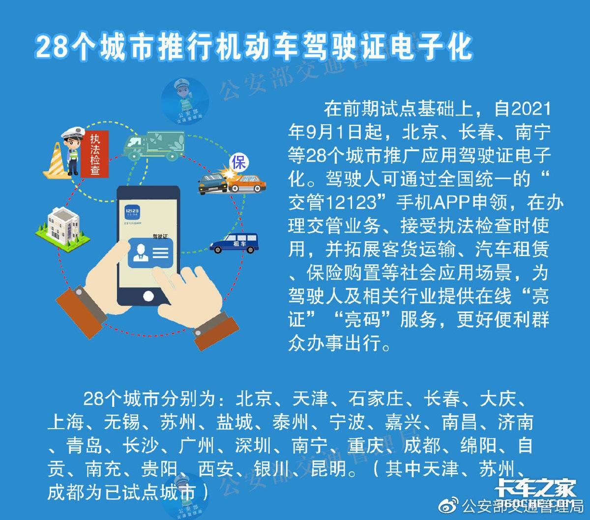 跟纸质驾照说再见!北京等28城推电子驾照全国有效