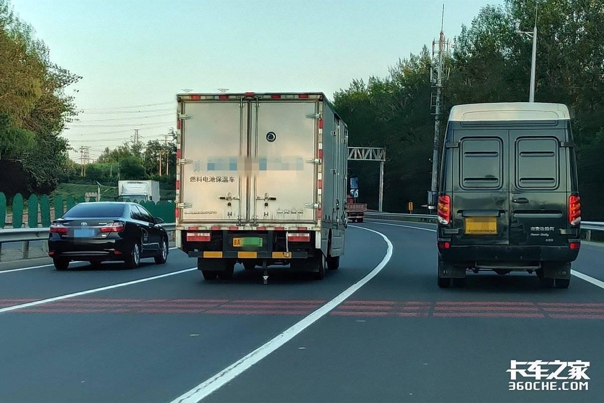 马路亲见氢燃料卡车神车思域都追不上