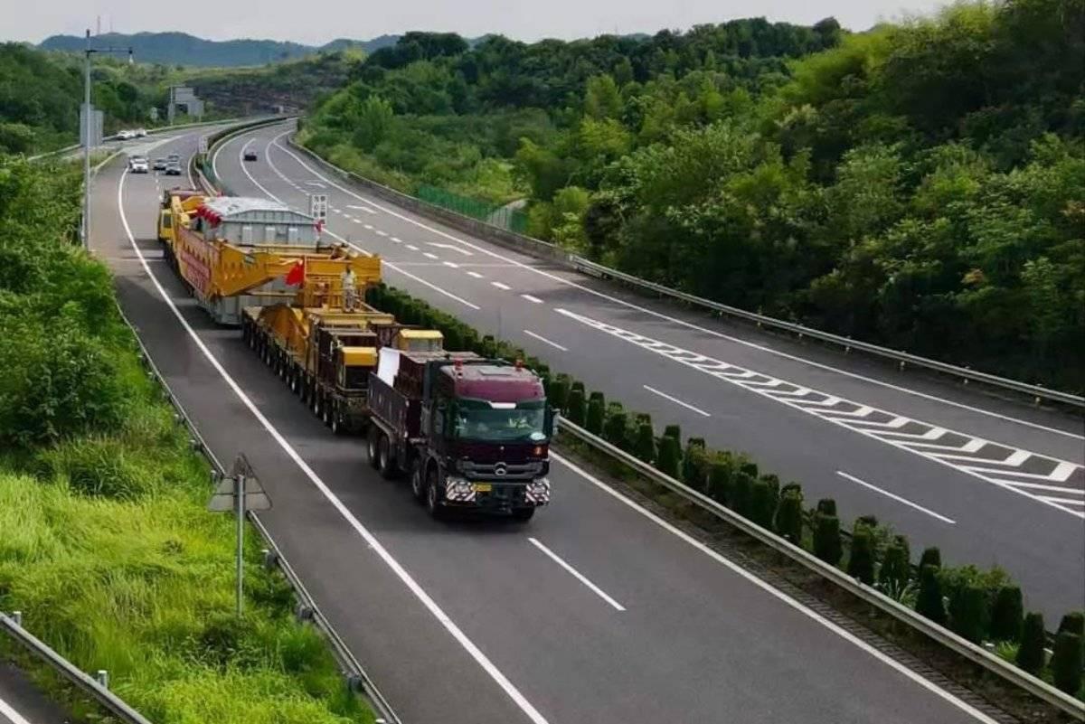 409吨42个车轴276个车轮,湖南省刷新大件运输最高纪录