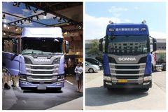 中国引进是低配?两款斯堪尼亚R500对比