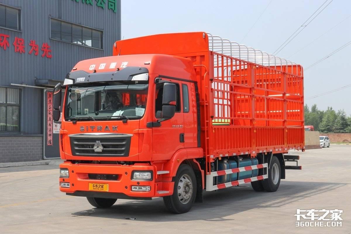 最大270马力双人床配置高回本还快这四款6米8中卡绿通散货全能