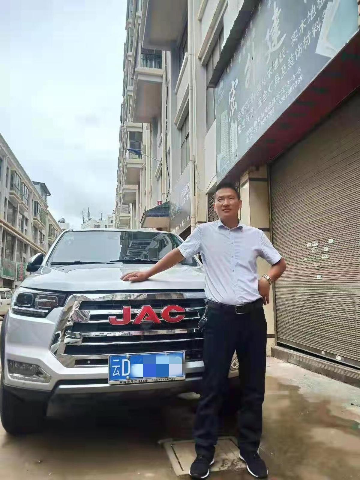 偶遇江淮T8皮卡云南熊老板把生意越做越大