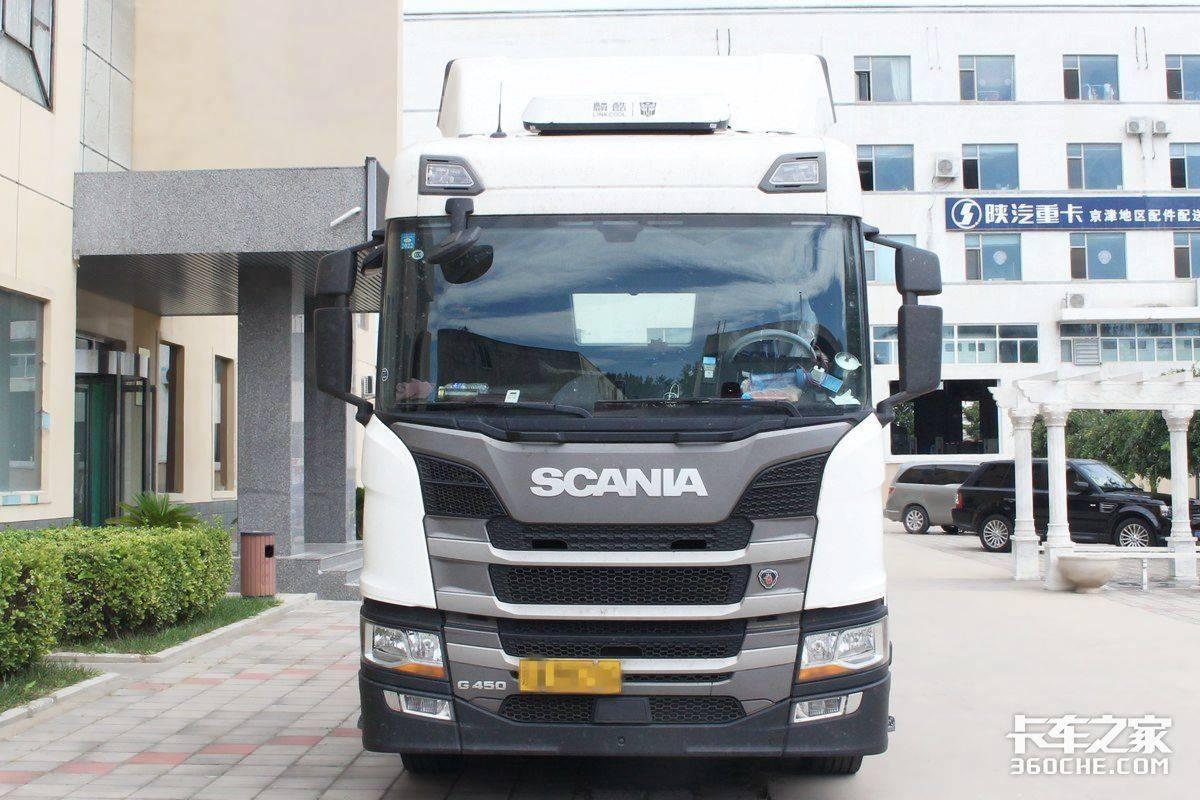 13升4x2牵引车斯堪尼亚G450是快递最爱