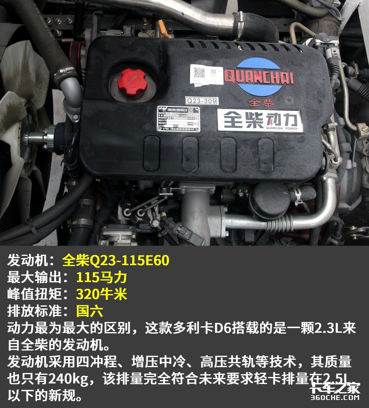 底盘自重2.1吨装22方货厢这款多利卡D6锐能版只要9.1万!