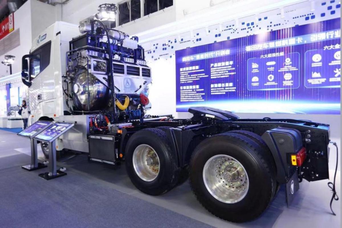 中国首款续航超1000公里液氢重卡亮相福田欧曼抢占新能源重卡高位
