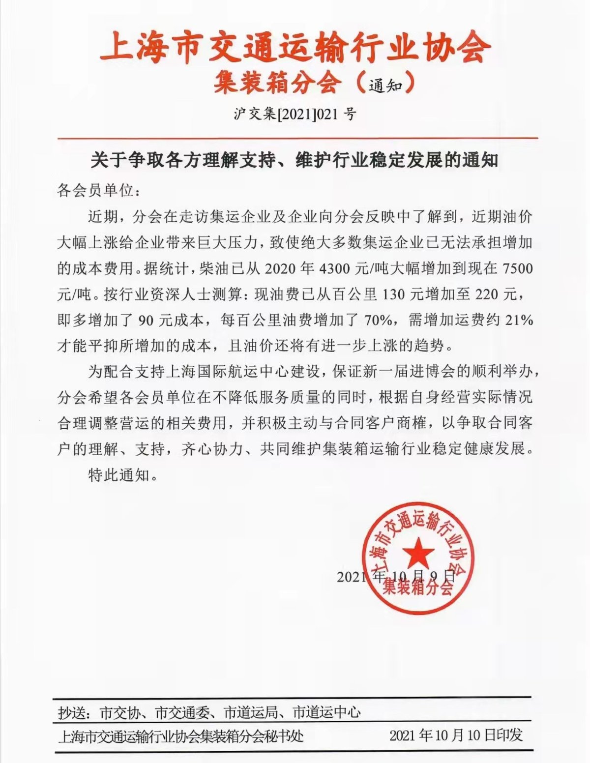 倡导集卡涨价!上海宁波港等协会齐发文