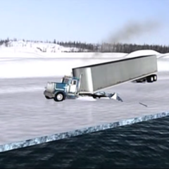 《冰雪前行》第1季5-8集,恶劣天气也阻挡不住卡车司机前进的步伐